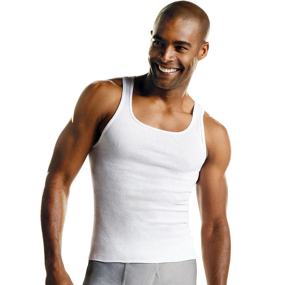 Hanes Mens White A-Shirt 3-Pack