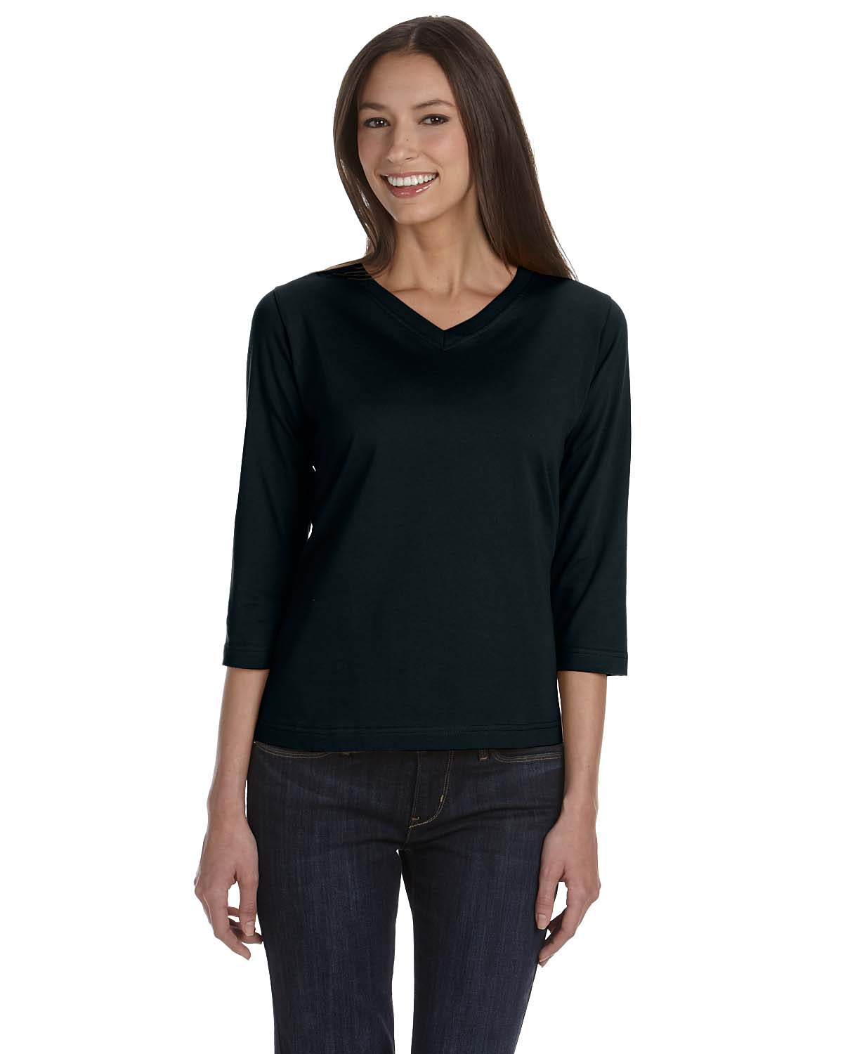 Ladies' 3/4 Sleeve Premium Jersey T-Shirt