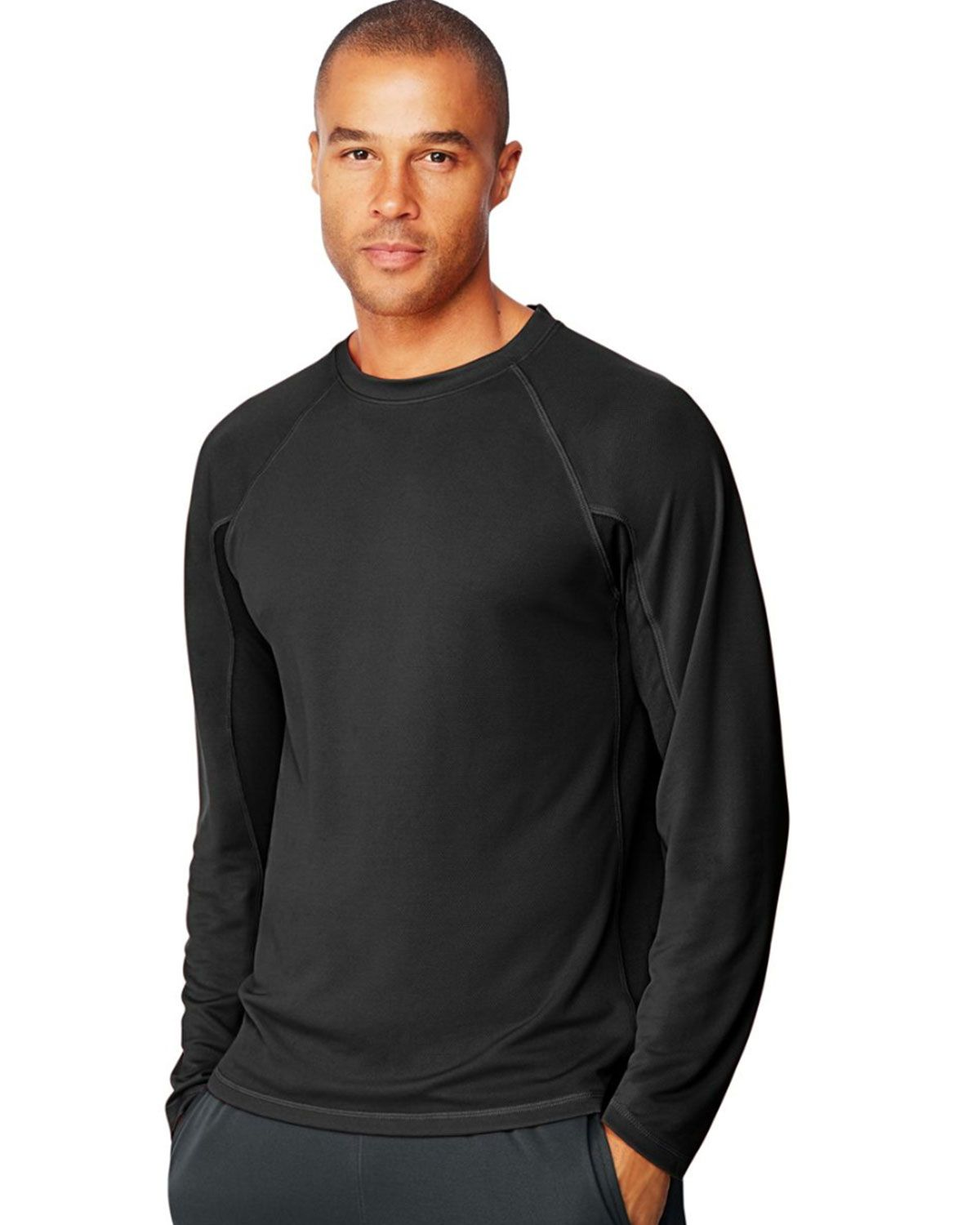 Hanes Sport 153 X-Temp Mens Performance Long-Sleeve Training T-Shirt
