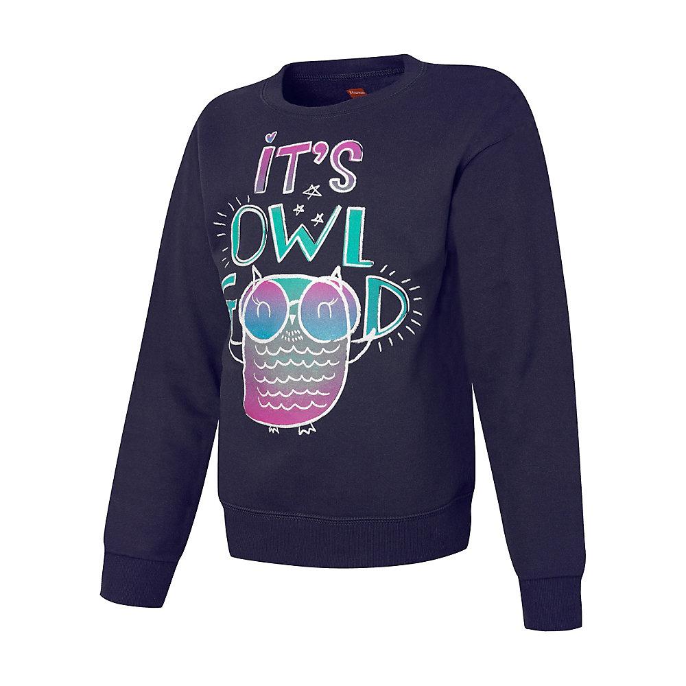 Hanes ComfortSoft EcoSmart Girls Graphics Crewneck Sweatshirt