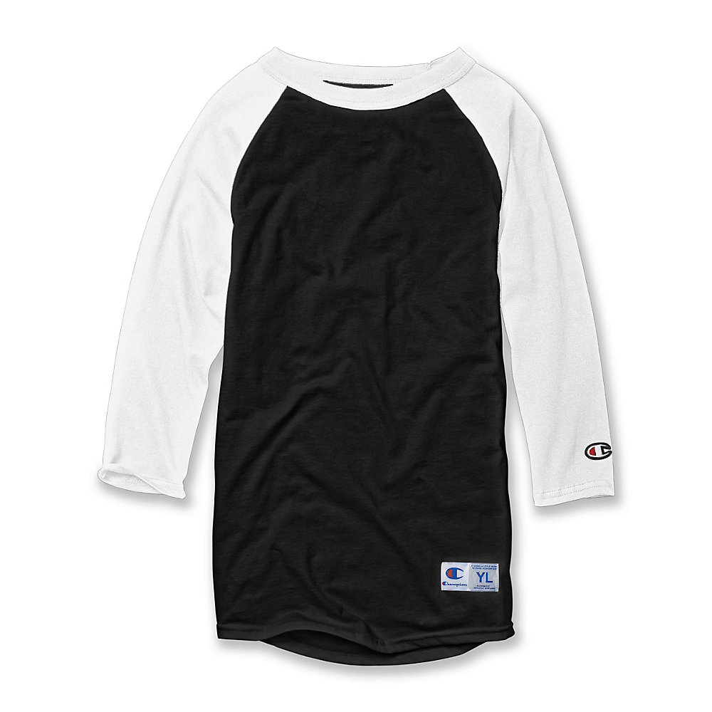pretty cool online retailer quality and quantity assured Buy Champion Youth Raglan Baseball T-Shirt in Bulk Price