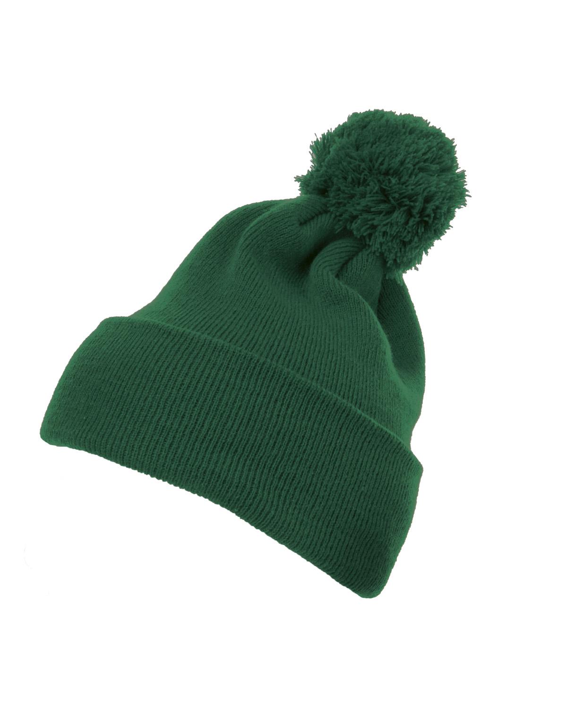 Cuffed Knit Beanie With Pom Pom Hat