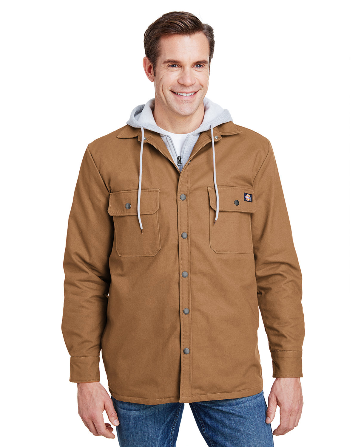 Men'S Hooded Duck Quilted Shirt Jacket