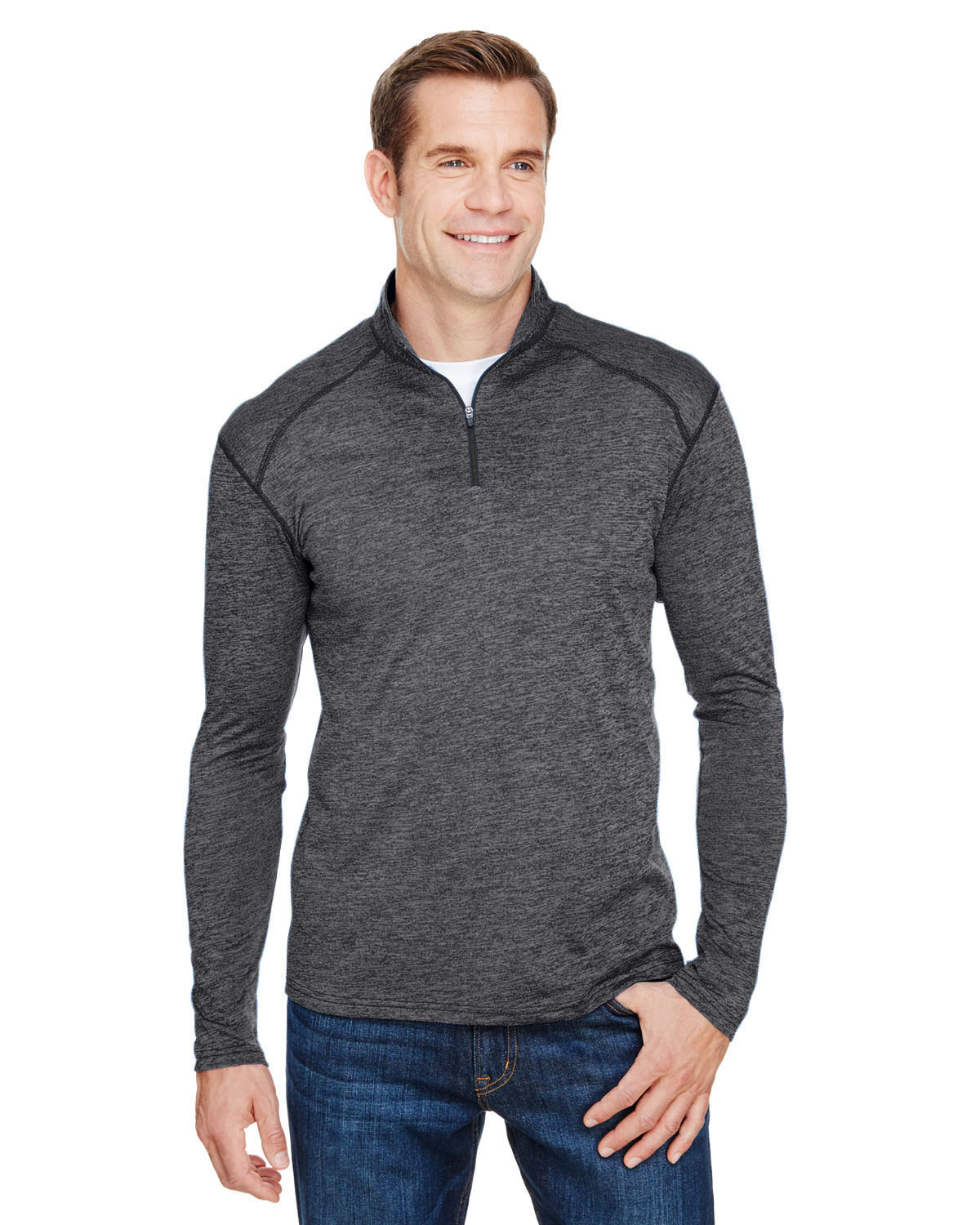 A4 N4010 Men's Tonal Space-Dye Quarter-Zip