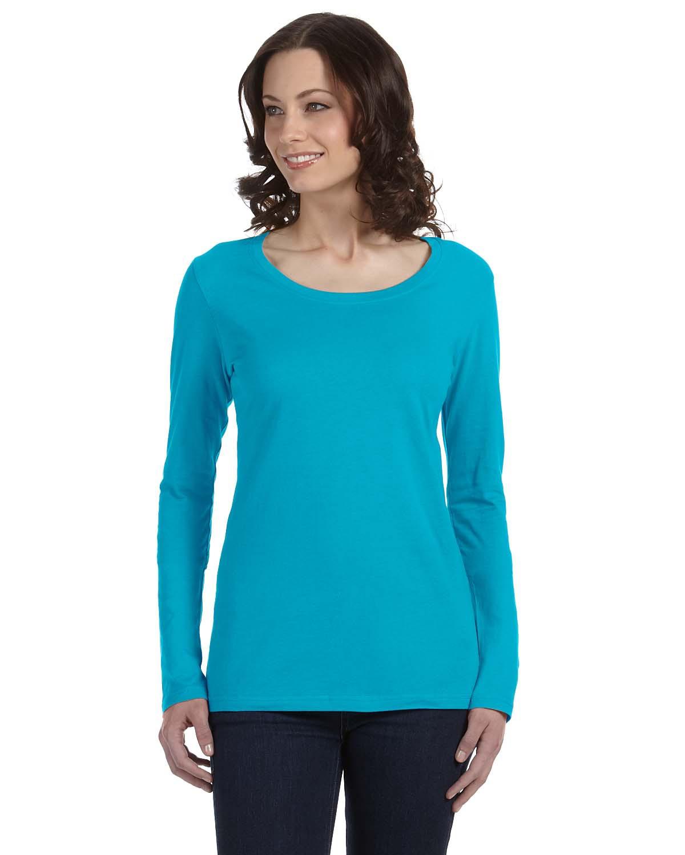 Ladies' Featherweight Long-Sleeve Scoop T-Shirt