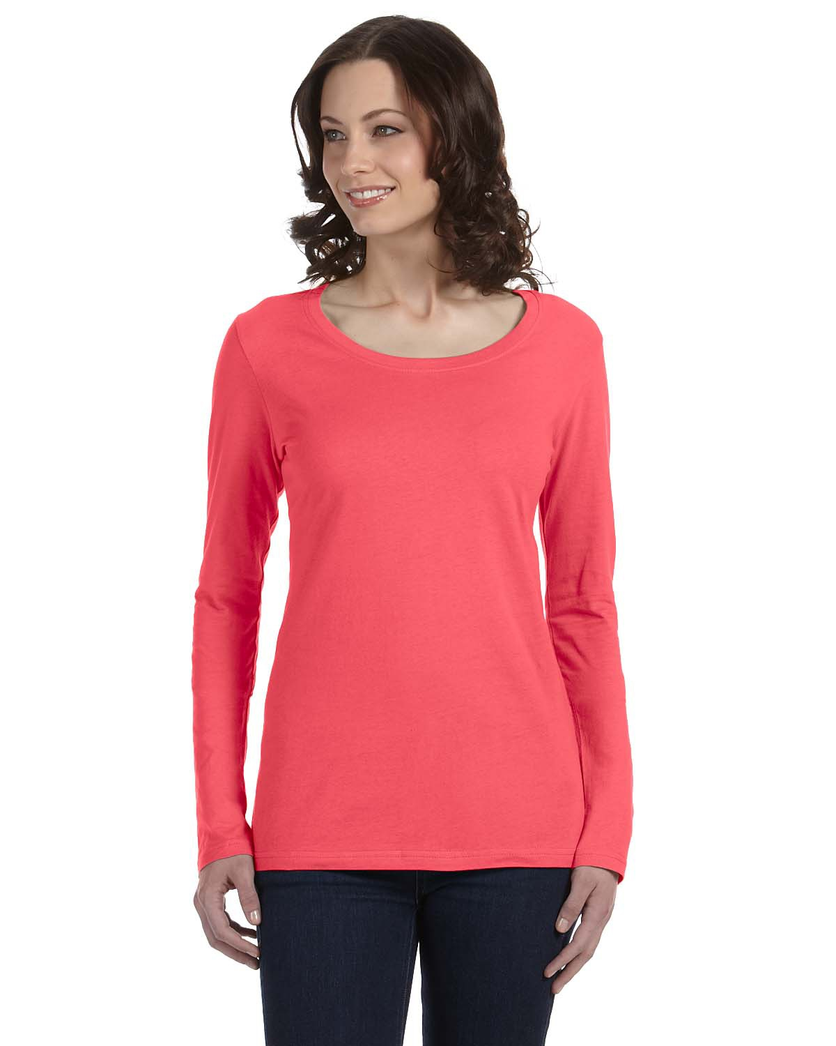 Ladies' Featherweight Long-Sleeve Scoop T-Shirt