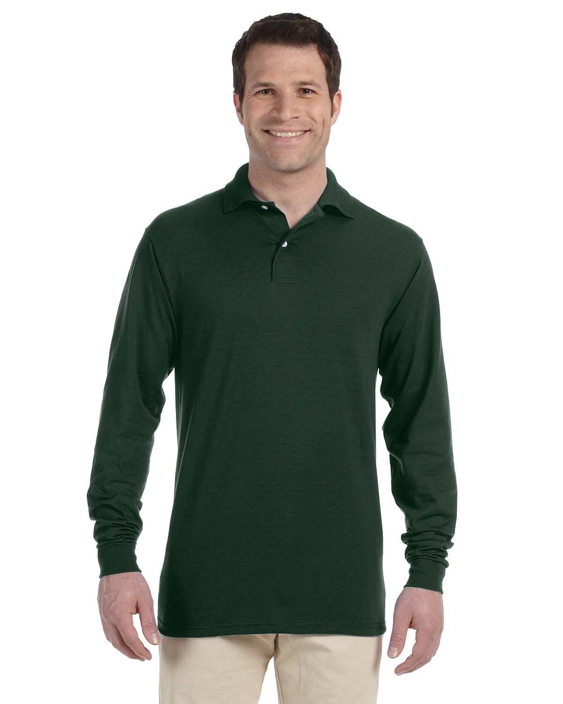 Adult 5.6 oz. SpotShield™ Long-Sleeve Jersey Polo
