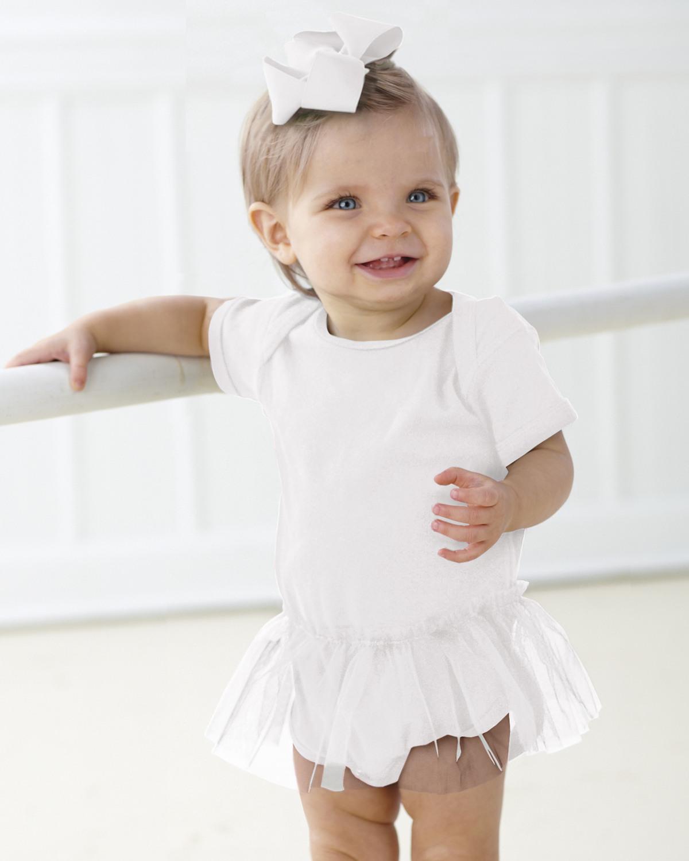 Infant Baby Rib Lap Shoulder Tutu Creeper