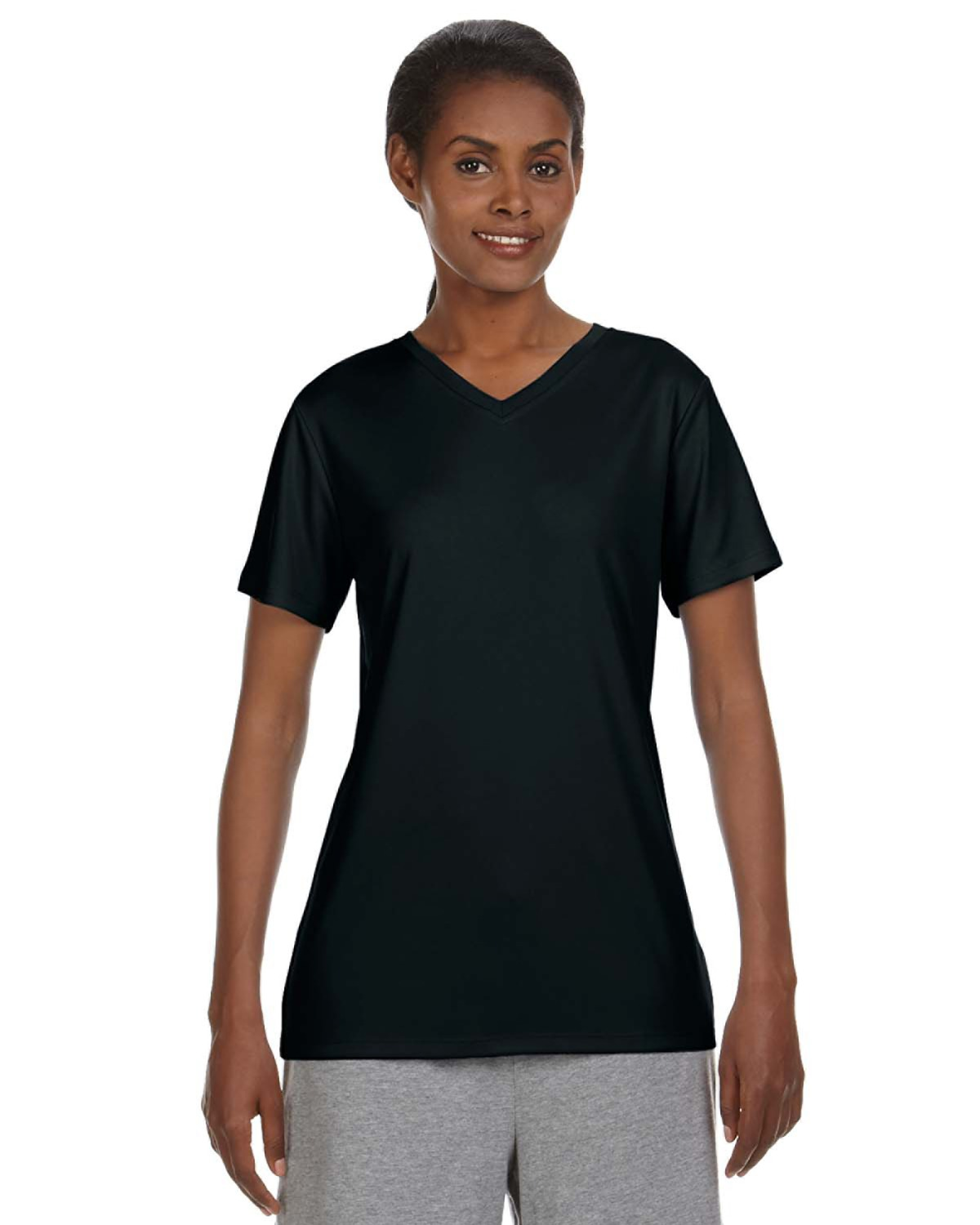 Hanes 483V Ladies Cool DRI with FreshIQ V-Neck Performance T-Shirt