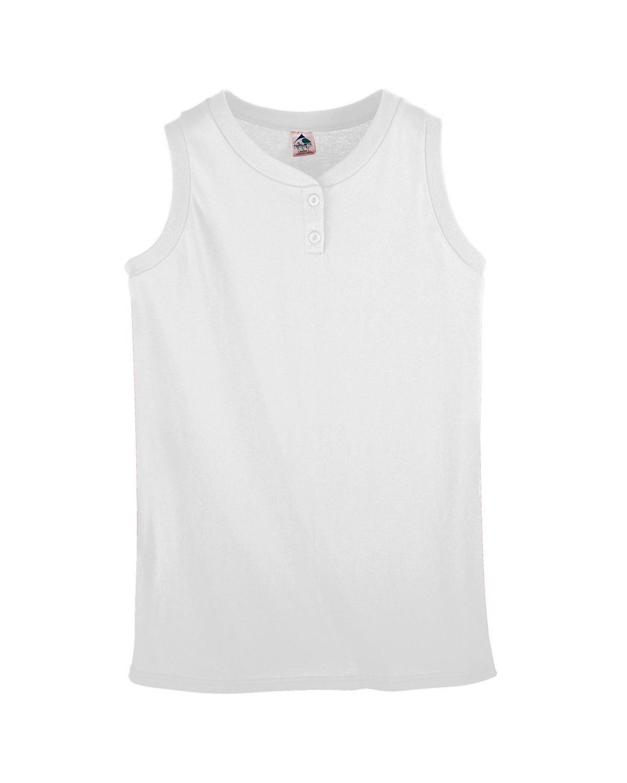 Girl's Sleeveless Two-Button Softball Jersey