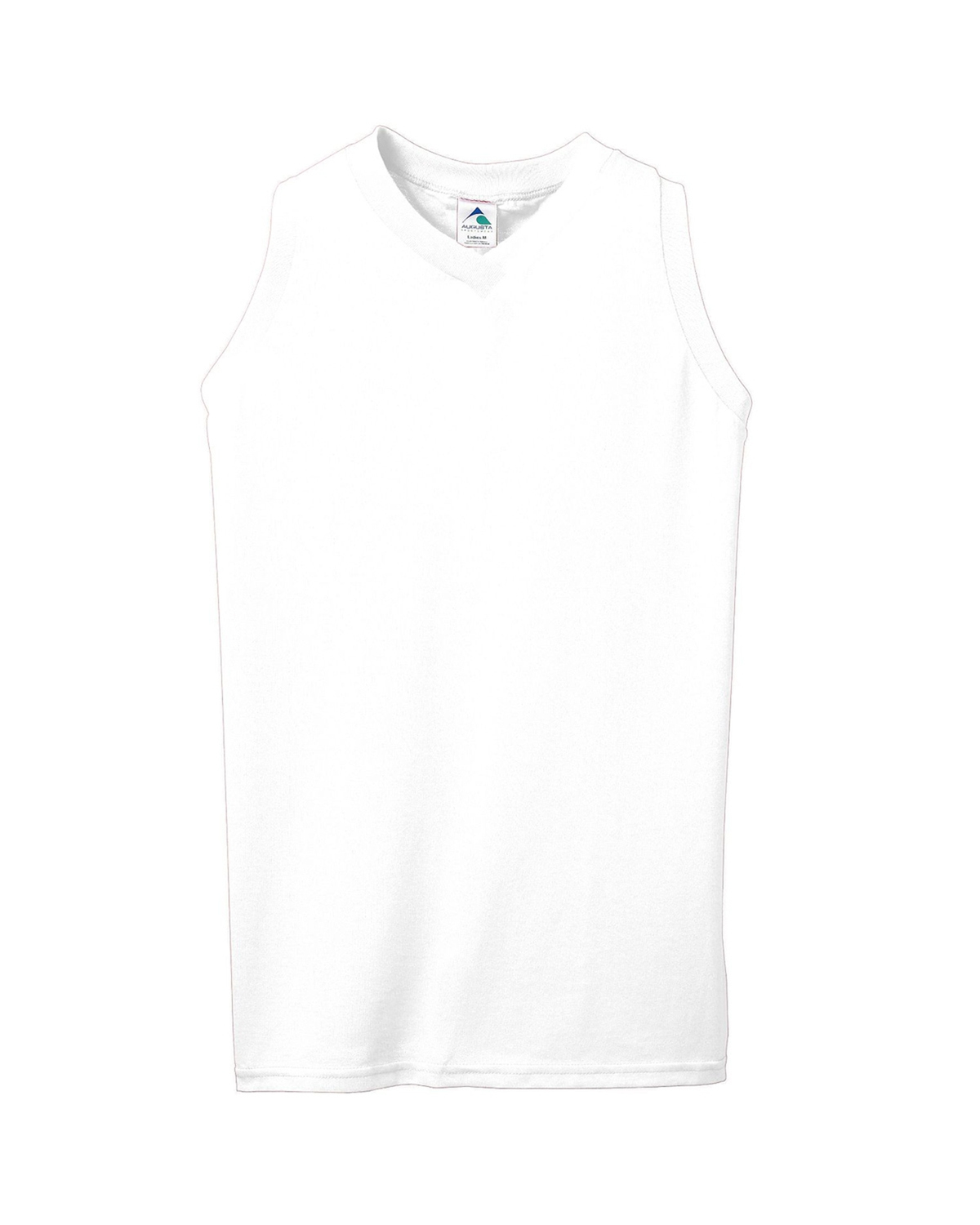 Girls' Sleeveless V-Neck Poly/Cotton Jersey