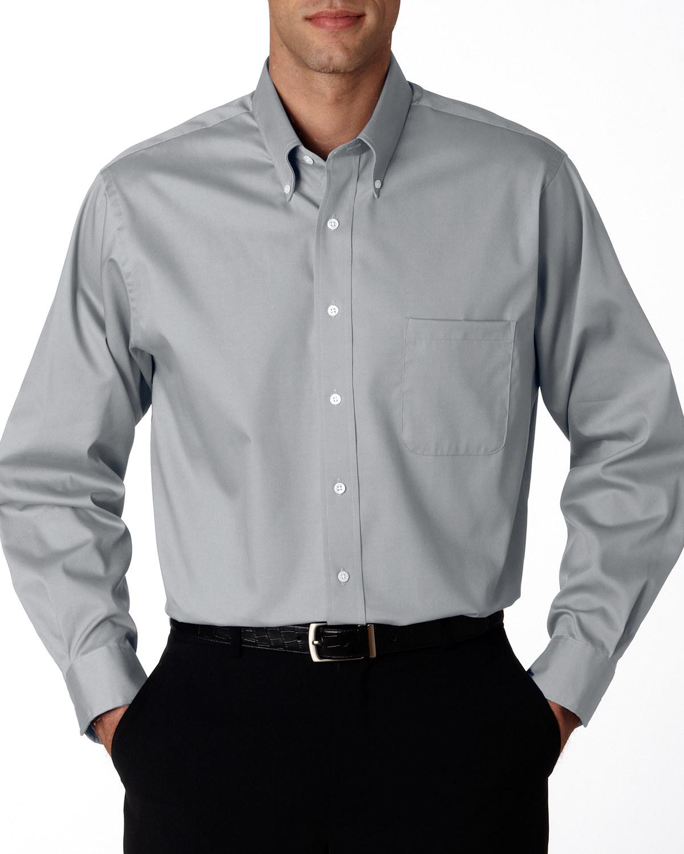 Men's Wrinkle-Resistant Blended Pinpoint Oxford