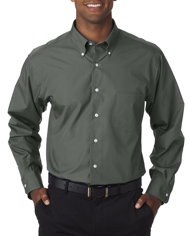 Men's Long-Sleeve Silky Poplin