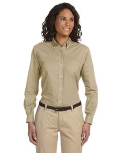 Ladies' Long-Sleeve Wrinkle-Resistant Oxford
