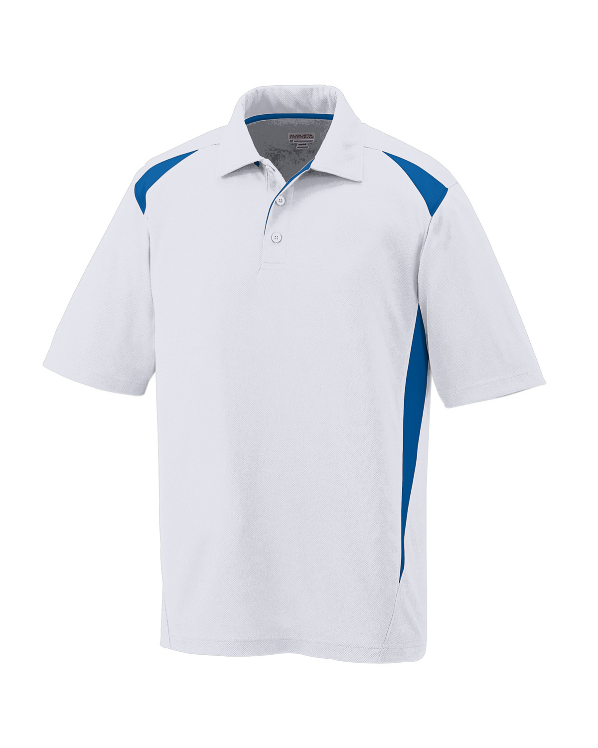 X-Large Augusta Sportswear Premier Sport Shirt White and Navy