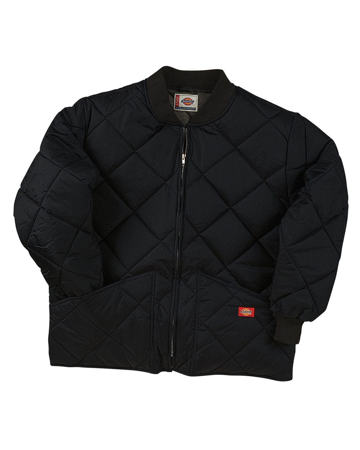Diamond Quilted Nylon Jacket