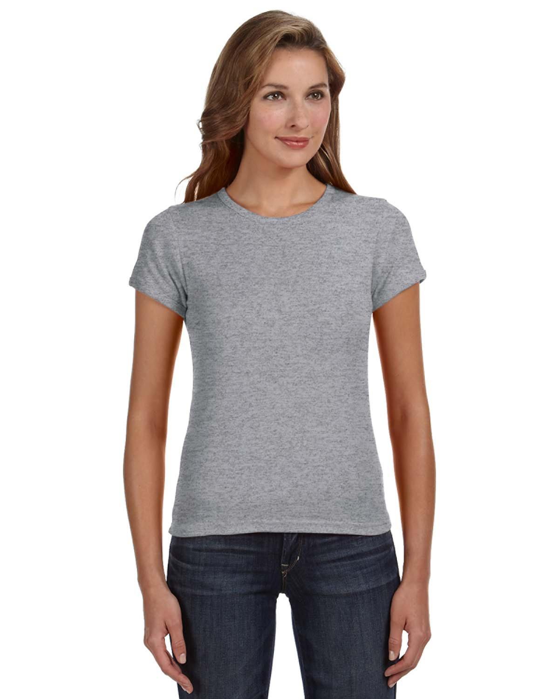Ladies' 1x1 Baby Rib Scoop T-Shirt