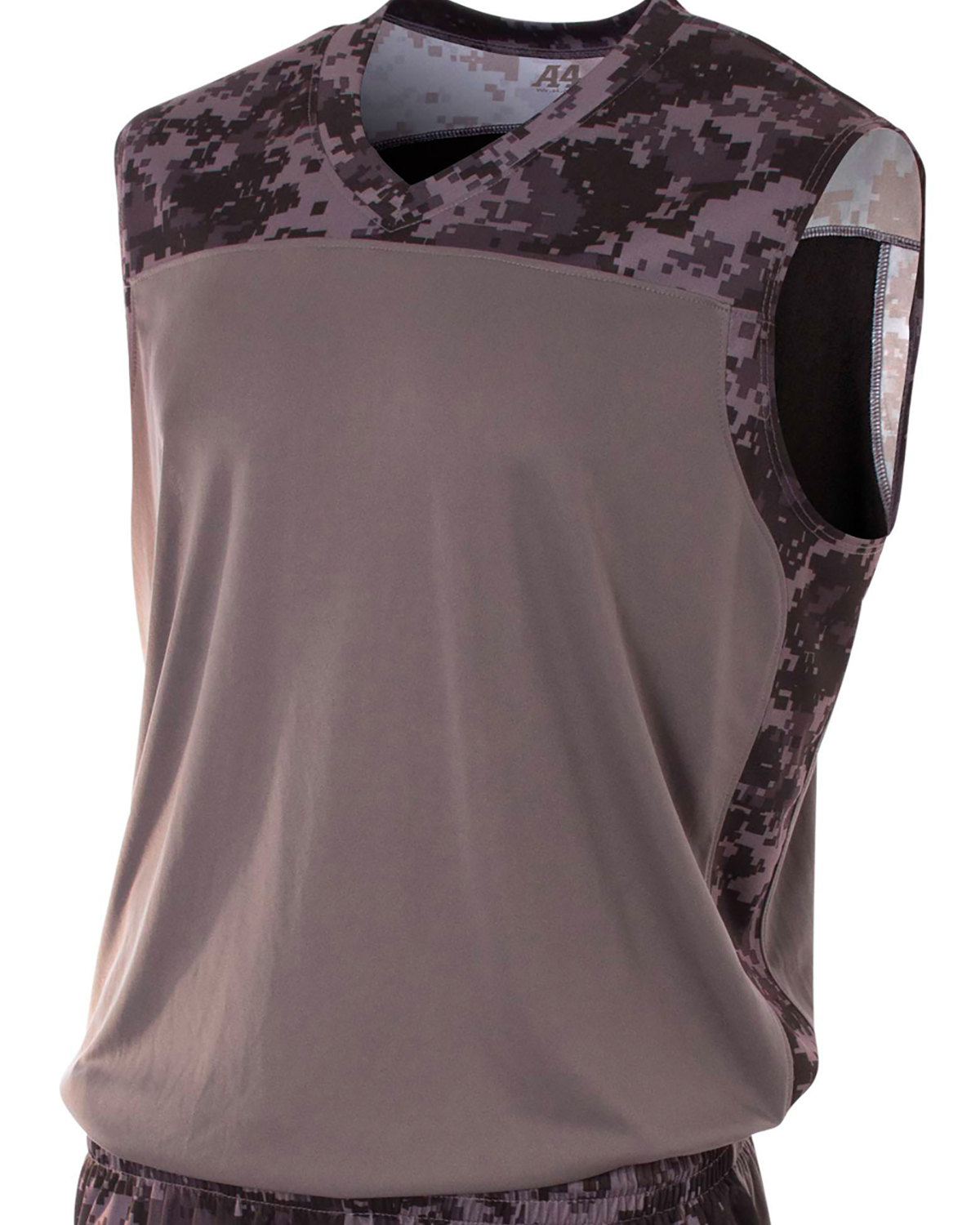 Adult Printed Camo Performance Muscle Shirt