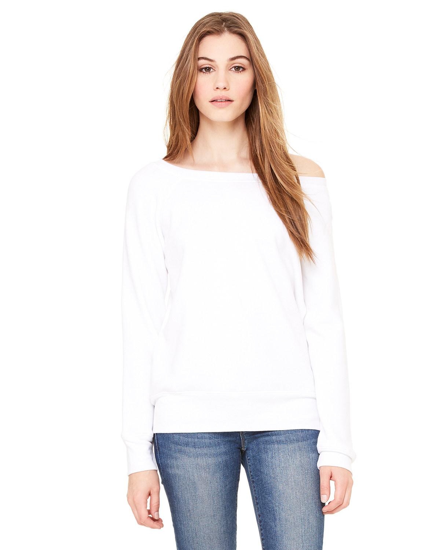 Ladies' Sponge Fleece Wide Neck Sweatshirt