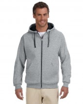 Adult 8 oz. NuBlend® Contrast Full-Zip Hood