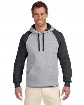 Adult 8 oz. NuBlend® Colorblock Raglan Pullover Hood