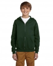 Youth 8 oz. NuBlend® Fleece Full-Zip Hood