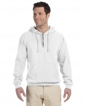 Adult 8 oz. NuBlend® Fleece Quarter-Zip Pullover Hood