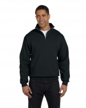 Adult 8 oz. NuBlend® Quarter-Zip Cadet Collar Sweatshirt