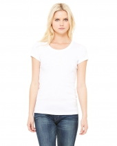 Ladies' Baby Rib Short-Sleeve Scoop Neck T-Shirt