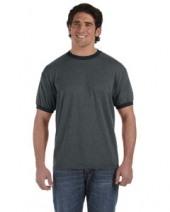 6 oz. Direct-Dyed Heather Ringer T-Shirt