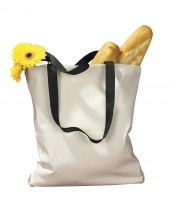 Canvas Tote with Contrasting Handles 12 oz.