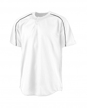 Adult Wicking Two-Button Baseball Jersey