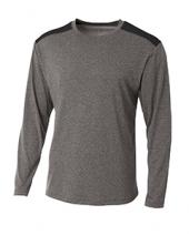 Men's Tourney Heather Color Block Long Sleeve T-Shirt