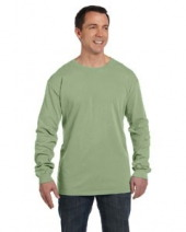 5.6 oz. Pigment-Dyed & Direct-Dyed Ringspun Long-Sleeve T-Shirt