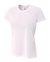 Ladies' Shorts Sleeve Spun Poly T-Shirt