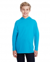 Youth Long-Sleeve Hooded T-Shirt