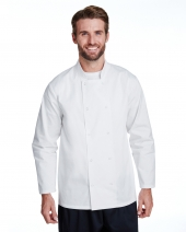 Unisex Studded Front Long-Sleeve Chef's Jacket