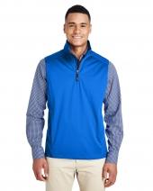 Men's Techno Lite Three-Layer Knit Tech-Shell Quarter-Zip Vest