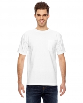 Adult 6.1 oz., 100% Cotton Pocket T-Shirt