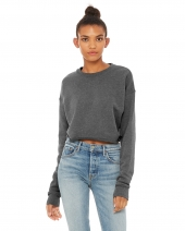 Ladies' Cropped Fleece Crew
