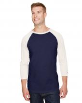 Adult Ringspun Slub Baseball T-Shirt