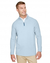 CrownLux Performance™ Men's Clubhouse Micro-Stripe Quarter-Zip