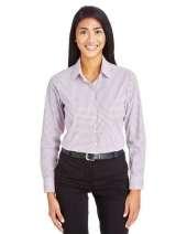 CrownLux Performance™ Ladies' Micro Windowpane Shirt