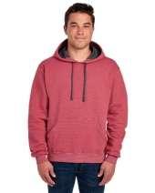 Adult 7.2 oz. Sofspun® Striped Hooded Sweatshirt