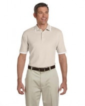 Men's Tipped Performance Plus Pique Polo