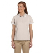 Ladies' Tipped Performance Plus Piqué Polo