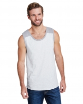 Men's Contrast Back Fine Jersey Tank Top