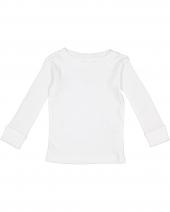 Infant Long-Sleeve Baby Rib PajamaTop
