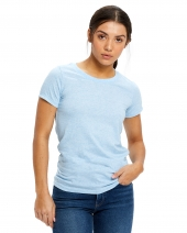 Ladies' Short-Sleeve Triblend Crew