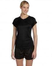 Ladies' 4.1 oz. Double Dry® V-Neck T-Shirt